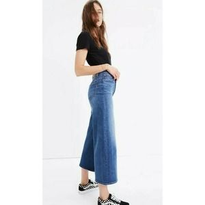 Madewell Wide Leg Crop Denim Jeans In Bainbridge
